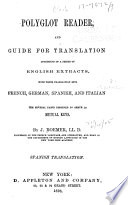 Polyglot Reader, and Guide for Translation: Spanish translation. 1870