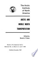 Arctic and Middle North Transportation