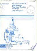 Nbs Standard Reference Materials Catalog