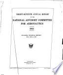 Annual Report - National Advisory Committee for Aeronautics