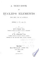 A Text Book Of Euclid S Elements