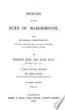 Memoirs of the Duke of Marlborough