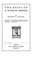The Basis of a World Order Book PDF