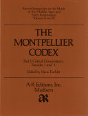 The Montpellier codex: Critical commentary ; Fascicles 1 and 2