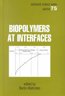 Biopolymers At Interfaces Book PDF