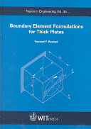 Boundary Element Formulations for Thick Plates