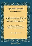 In Memoriam  Ralph Waldo Emerson