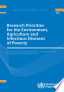 Research Priorities For The Environment Agriculture And Infectious Diseases Of Poverty Book PDF