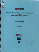 Intelligent Transportation Systems Development Deployment Plan Large Urban Transit Systems Book PDF