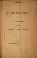 An Old Philosophy in 101 Quatrains