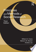 Principles and Methods of Social Research Book