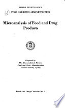 Microanalysis Of Food And Drug Products