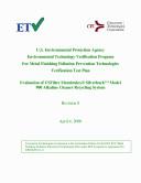 Pdf EPA ETV Program for Metal Finishing Pollution Prevention Technologies Verification Test Plan