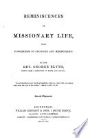 Reminiscences of Missionary Life