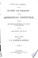 Report Upon the Condition and Progress of the U S  National Museum During the Year Ending June 30