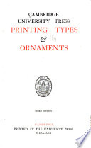 Cambridge University Press Printing Types & Ornaments