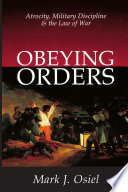 Obeying Orders Book