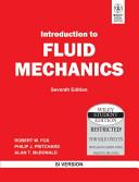 INTRODUCTION TO FLUID MECHANICS, 7TH ED