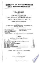 Department of the Interior and related agencies appropriations for 1985