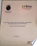 Forum For The Americas On Agricultural Research And Technology Development Foragro Plan Of Action 2003 2004 Poa  Book PDF