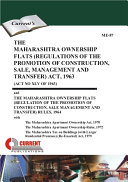 The Maharashtra Ownership Flats  Regulations of The Promotion of Construction  Sale  Management and Transfer  Act  1963