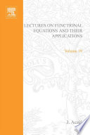 Lectures on functional equations and their applications google books lectures on functional equations and their applications fandeluxe Choice Image
