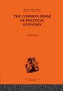 Pdf The Common Sense of Political Economy