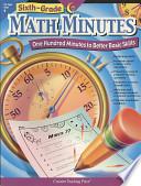 Math Minutes  6th Grade  eBook