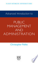 Advanced Introduction To Public Management And Administration