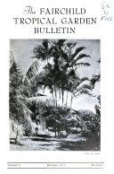 Fairchild Tropical Garden Bulletin