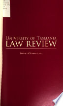 University of Tasmania Law Review