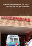 manual para personal de nueva incorporacion en urgencias