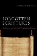 Forgotten Scriptures