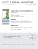 The State of Mental, Emotional, and Behavioral Health of Children and Youth in the United States Pdf/ePub eBook