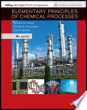Elementary Principles of Chemical Processes, 4e Abridged Loose-leaf Print Companion and WileyPLUS Card