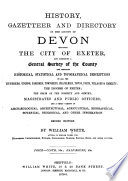History  Gazetteer and Directory of the County of Devon