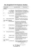 The Bangladesh Development Studies