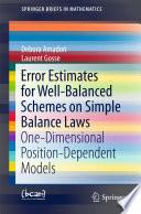 Error Estimates for Well Balanced Schemes on Simple Balance Laws