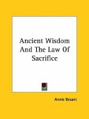 Ancient Wisdom and the Law of Sacrifice
