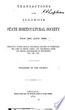 Transactions of the Illinois State Horticultural Society Book