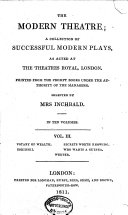 The    Modern Theatre  Votary of wealth