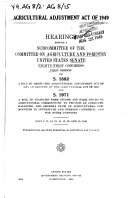 Agricultural Adjustment Act of 1949 ebook