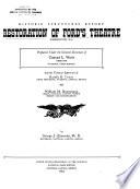 Restoration of Ford s Theatre  Washington D C  Book PDF