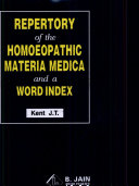 Pdf Repertory of the Homoeopathic Materia Medica