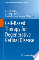 Cell Based Therapy For Degenerative Retinal Disease Book PDF