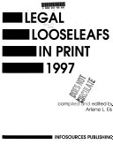 Legal Looseleafs In Print Book PDF