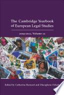 Cambridge Yearbook of European Legal Studies  Vol 12  2009 2010