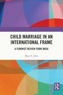 Child Marriage in an International Frame Pdf/ePub eBook