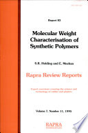Molecular Weight Characterisation Of Synthetic Polymers Book PDF