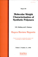 Molecular Weight Characterisation of Synthetic Polymers